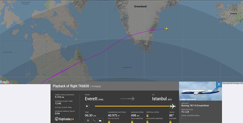 THY'nin ikinci Dreamliner'ı yola çıktı